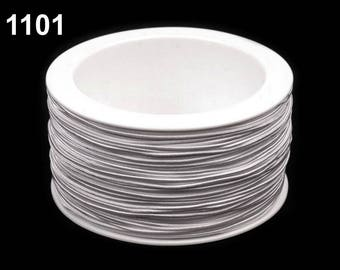 3 m elastic round 1.2 mm white 1101