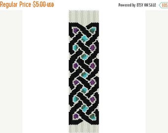 SALE HALF PRICE off Instant Download Beading Pattern Peyote Stitch Bracelet Celtic Knot Seed Bead Cuff