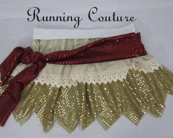NEW Moana inspired sparkle Women's Running circular skirt . costume  skirt for dance, skating, running