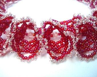 "Necklace ""Ogalala"" crimson"