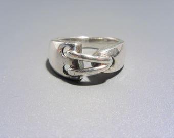 Vintage Sterling Pierced Design Ring Size 6.5