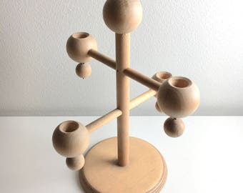 A big vintage Aarikka Christmas wooden candle holder designed by Kaija Aarikka, 1960s, Made in Finland