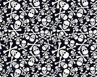 Black and white skull craft vinyl sheet - HTV or Adhesive Vinyl -  Halloween pattern HTV828