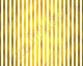 Gold foil and white craft small stripe pattern sheet - HTV or Adhesive Vinyl -  HTV4800