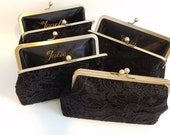 Set of 4 black lace clutches for Nicole