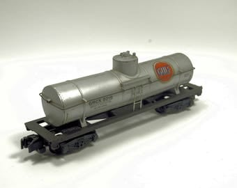 Vintage American Flyer 925 Gulf Oil Tanker Car Rolling Stock S-Scale