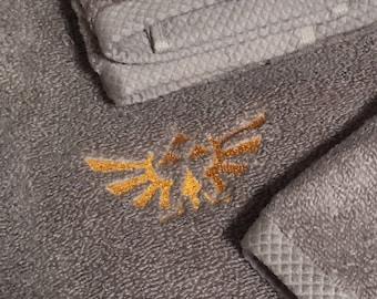 Legend of Zelda 3 peice embroidered towel set