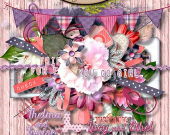 Digital Scrapbooking: Elements, BFF Element Pack