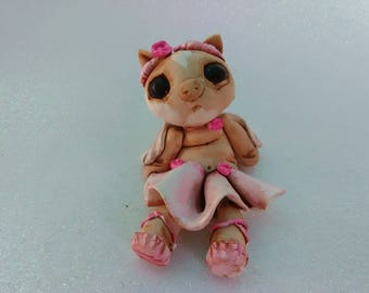 Cute Baby Flying Pig Creature Sculpture
