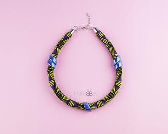 Bijoux en wax, bijoux africains, tissu wax, african fabric necklace for women, textile necklace, ankara necklace, birthday gift