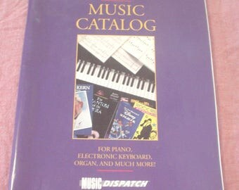 Vintage 1990 Music Catalog for Piano, Electronic Keyboard, Organ and Much More Music Dispatch Beatles Broadway Fake Muppet Soundtracks Solos