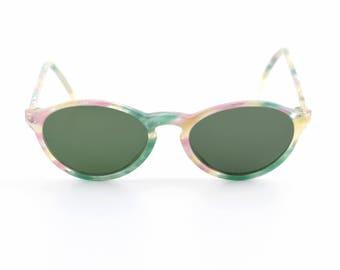 Vintage eyeglasses frame glasses eyewear transparent turquoise violet speckled pastel specs