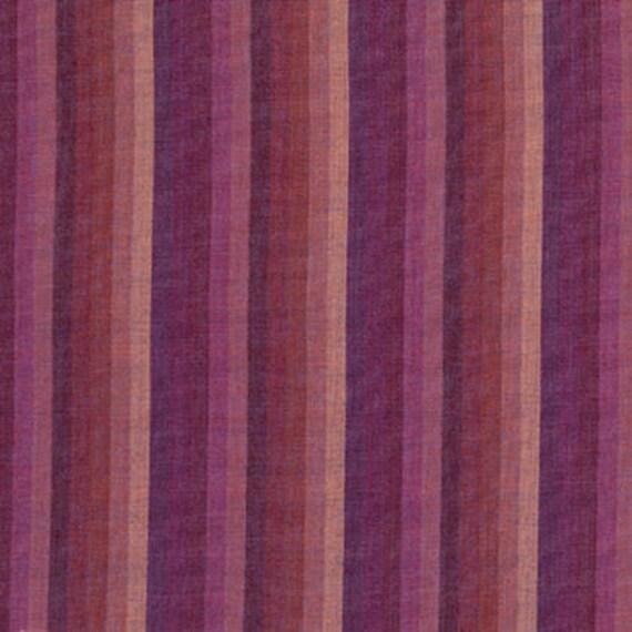 MULTI STRIPE RASPBERRY Woven wmultix.toast Kaffe Fassett fabric sold in 1/2 yard increments