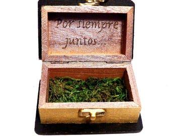 Personalized Wedding Ring Box, Wedding Bride Box, Gift Couple Box, Custom Ring Box, Wedding Book Box , Wedding Anniversary Gift, Ring Box