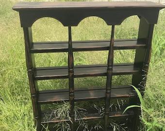 Distressed Wood Shadow Box Display Curio