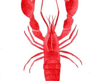 ORIGINAL Acrylic Lobster Painting