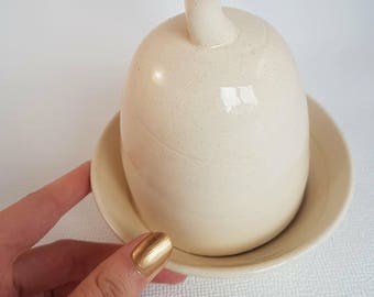 Scandinavian style Butter Dish and Dome
