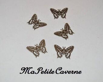 print Butterfly filigree bronze 25 mm