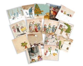 Christmas Card, set of 15.