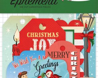 A Very Merry CHRISTMAS Carta Bella FRAMES & TAGS Ephemera Die Cut 33 #CBVMC72021