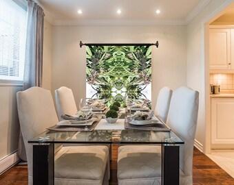 Marijuanna Art,Willimans Wonder Cannabis Wall Art, Exotic Plant Art,Kaleidoscope Art Prints, Tropical Wall Art Fabric, Large Botanical Print