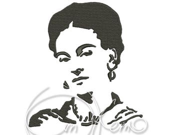 MACHINE EMBROIDERY DESIGN - Frida portrait