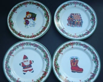 On Sale Now Christopher Radko Traditions Holiday Celebrations set of 4 Salad/ Dessert Plates