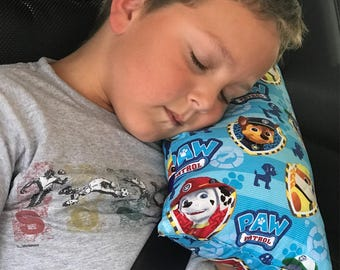 Paw patrol seat belt pillow- kids travel pillow
