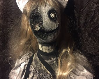 "Creepy Halloween Prop ""Penelope The Doll"""