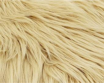 Sand Luxury Shag Faux Fur Fabric
