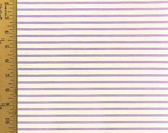 Purple, Lavander and White - Striped - 100% Cotton - 44 Wide