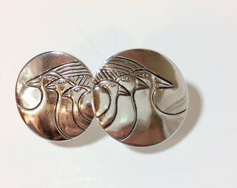 "Vintage Laurel Burch ""Celestial Bird"" Earrings"