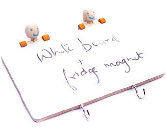 IVEI Peeping figures wooden Fridge magnet  with a whiteboard and hooks