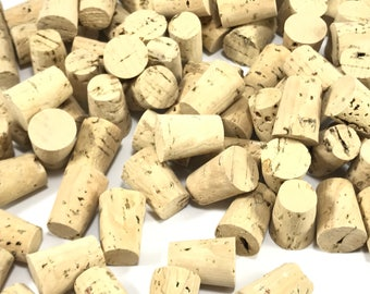 10 Tapered Corks, Natural Cork Stoppers, Small Corks, Wine Corks, Champagne Corks, Crafting Corks, Small Corks