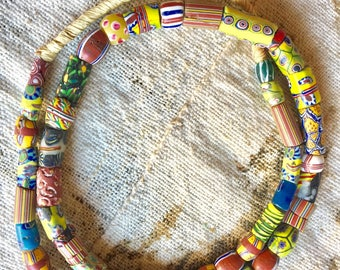 Venetian millefiore trade beads Africa old trade beads