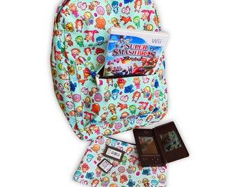 SALE The Legend of Zelda Pattern ~ Ocarina of Time / Majora's Mask ~ Backpack