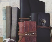 Reserved Listing for Marjorie- Small Leather-Bound Journal