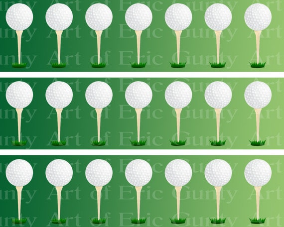 Golfing Golf Birthday - Designer Strips - Edible Cake Side Toppers- Decorate The Sides of Your Cake! - D22757