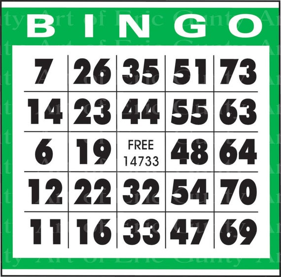 Green Bingo Card Birthday - Edible Cake and Cupcake Topper For Birthday's and Parties! - D22902