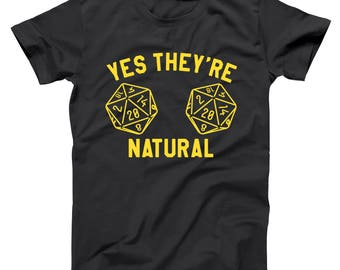 They're Natural Gamer Dice Funny Humor Tabletop D&D Geek Dungeon Dragons Basic Men's T-Shirt DT1529