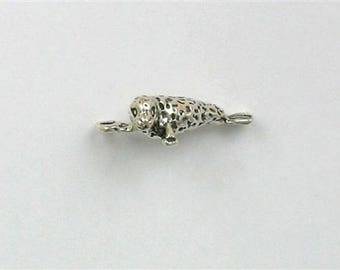 Sterling Silver 3-D Harbor Seal Charm