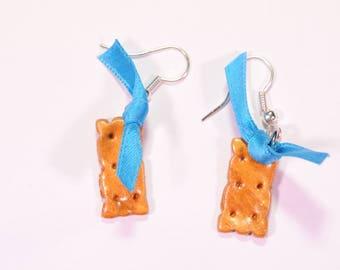 Mint cookie earrings