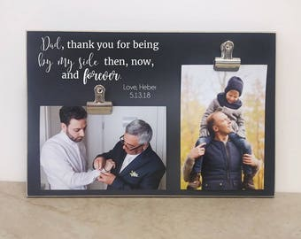 Father And Son Photo Frame, Father Of The Groom Gift, Personalized Gift For Dad, Custom Picture Frame, Wedding Ideas, Wooden Frame, 8x12
