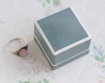 Antique Ring Box - Vintage Jewelers Box - Proposal - Engagement Gift Box