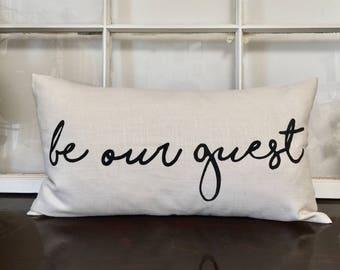 Be Our Guest Lumbar Pillow