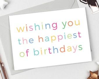 Happiest of Birthdays Birthday Card