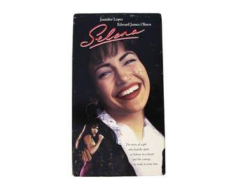 Selena VHS Jennifer Lopez 90s Selena Quintanilla-Perez Singer Artist Tejano