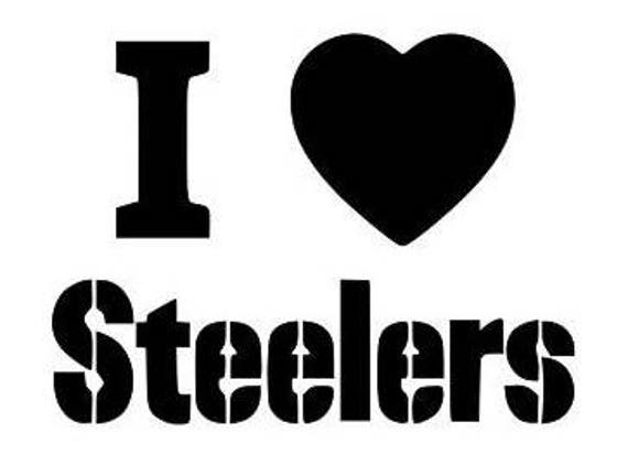 Pittsburgh Steelers, football decal, Steelers decals, Pittsburgh decals, sports decals, cup decals Football, Steelers football, villanueva