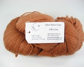 All wool yarn, hand dyed yarn, worsted weight, knitting yarn, pure wool, brown yarn, American yarn, sweater yarn, classic wool, cider brown