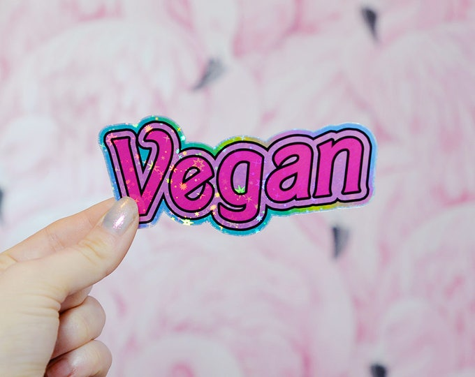 Vegan Doll, Barbie Inspired Holographic Sticker